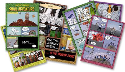 snail comic thumbnails